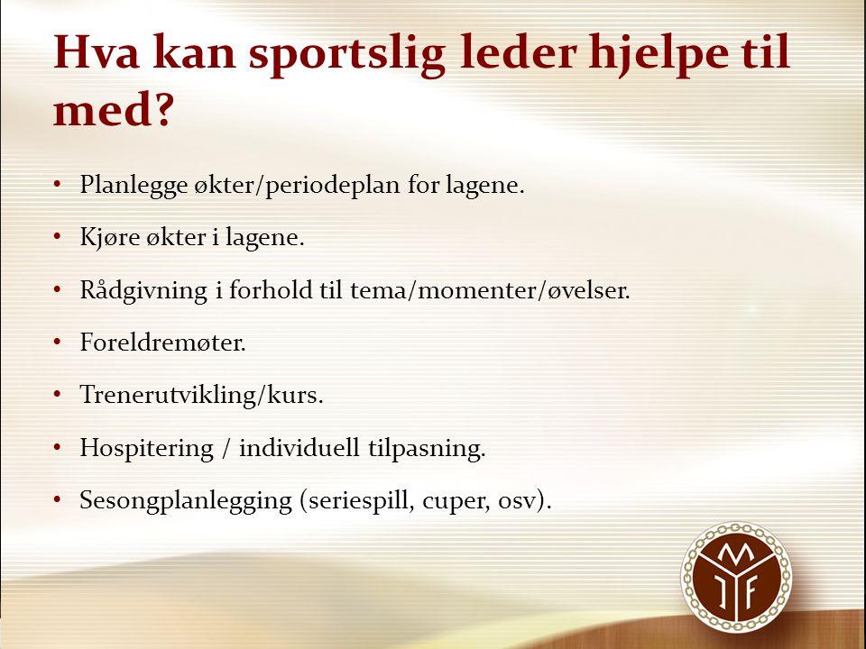 Hva kan sportslig leder hjelpe til med