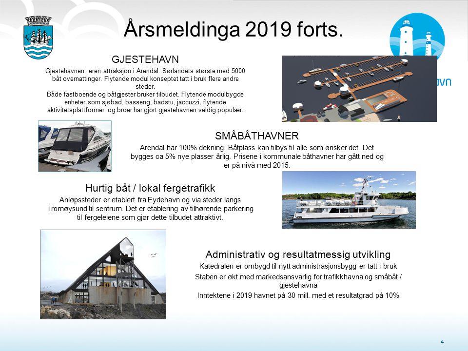 Årsmeldinga 2019 forts. GJESTEHAVN SMÅBÅTHAVNER