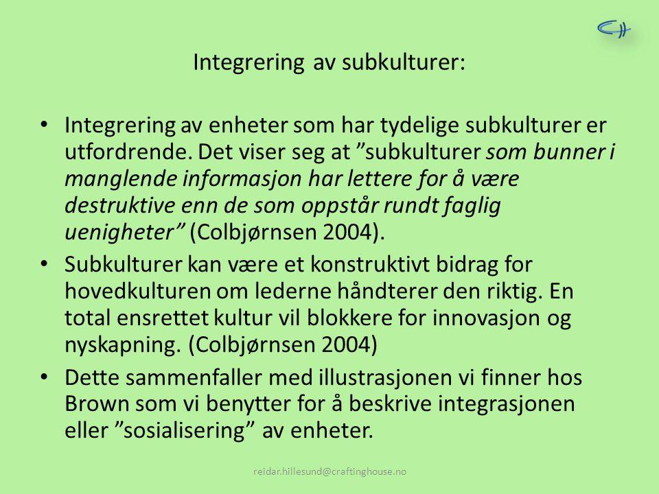 Integrering av subkulturer: