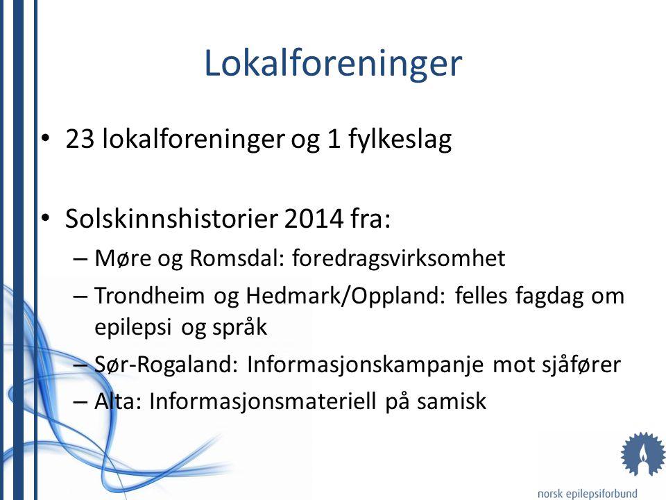 Lokalforeninger 23 lokalforeninger og 1 fylkeslag