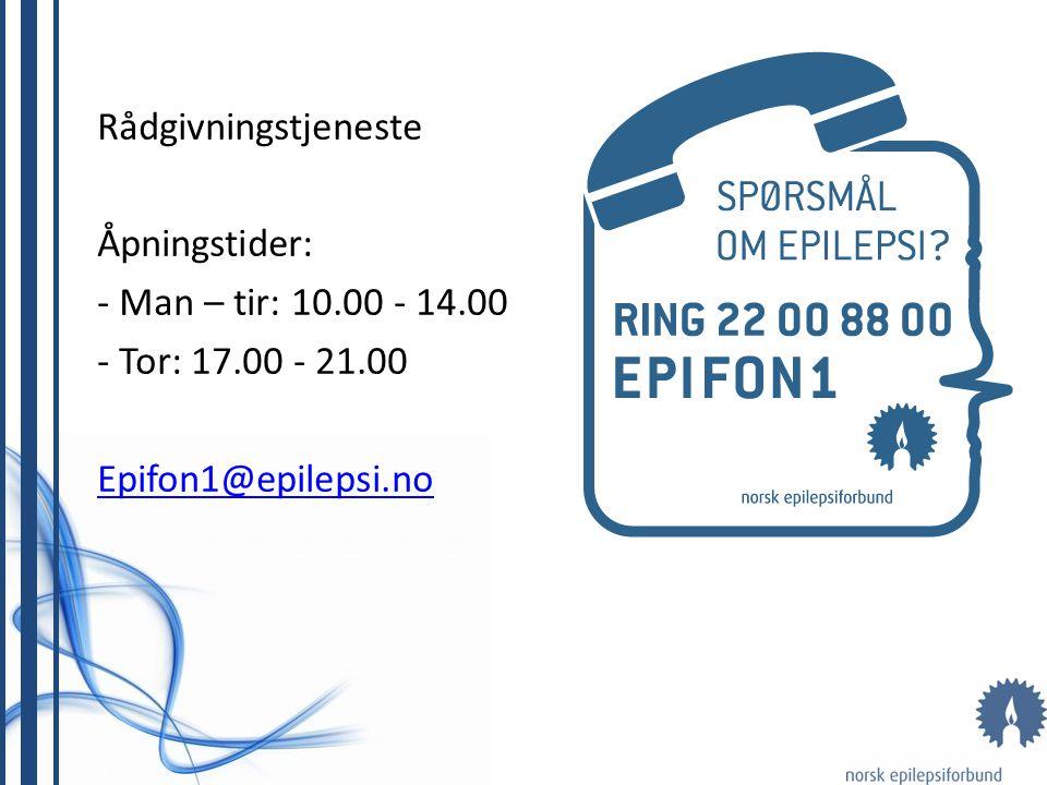 Rådgivningstjeneste Åpningstider: - Man – tir: 10.00 - 14.00.