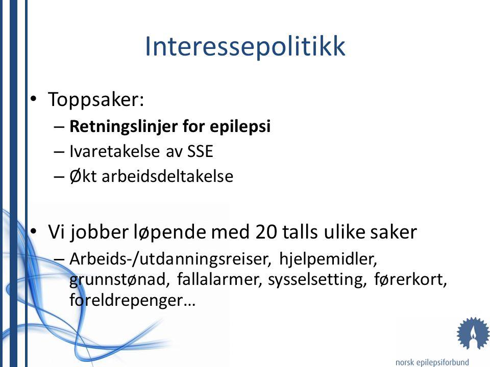Interessepolitikk Toppsaker: