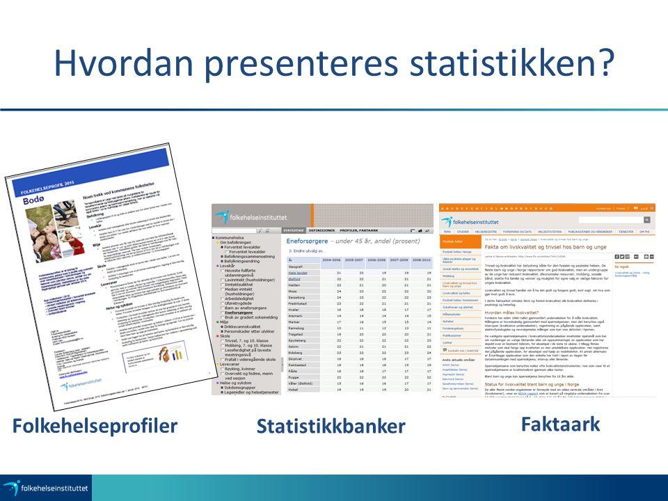 Hvordan presenteres statistikken