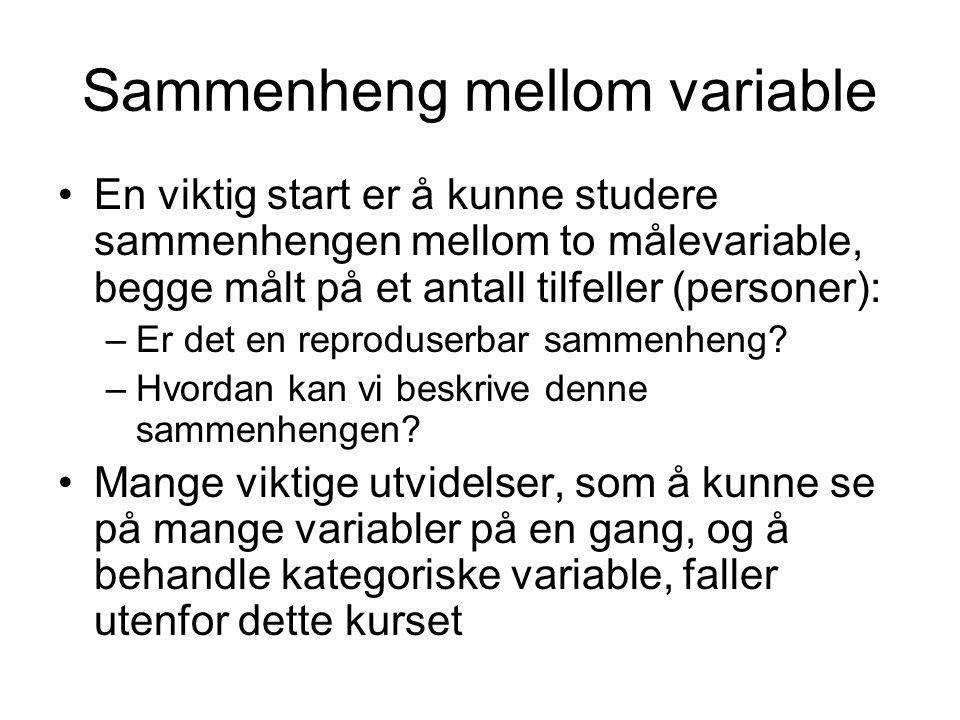 Sammenheng mellom variable
