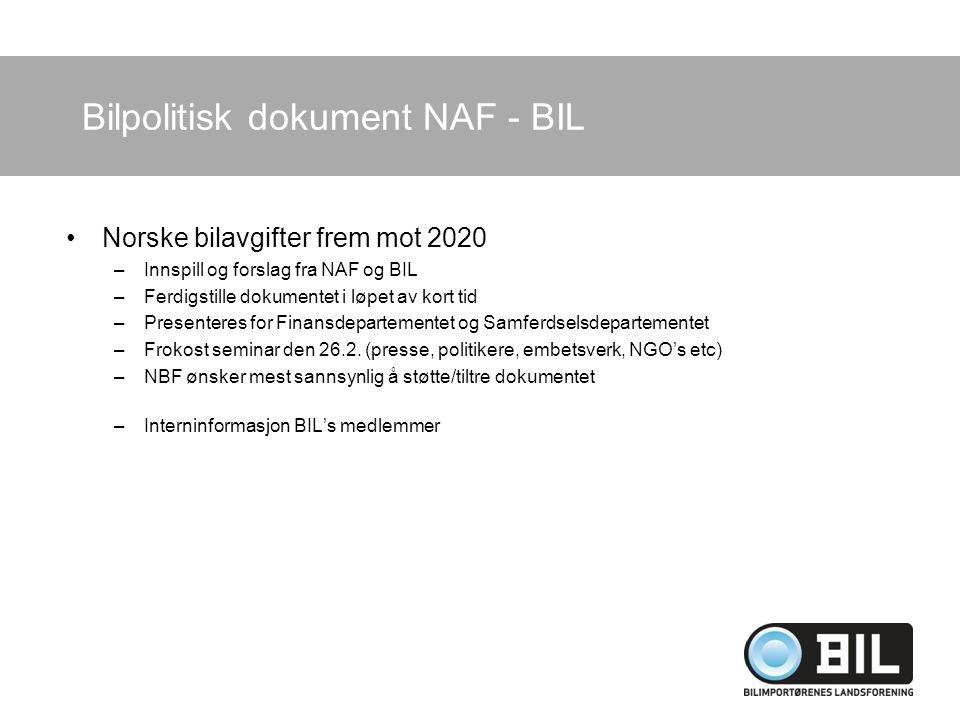 Bilpolitisk dokument NAF - BIL