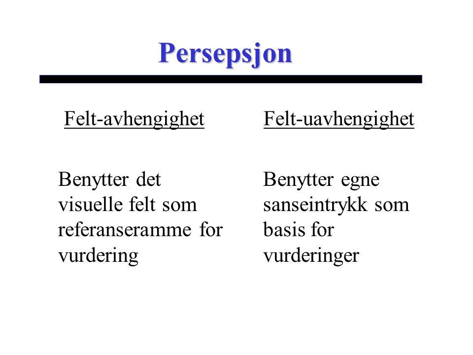 Persepsjon Felt-avhengighet