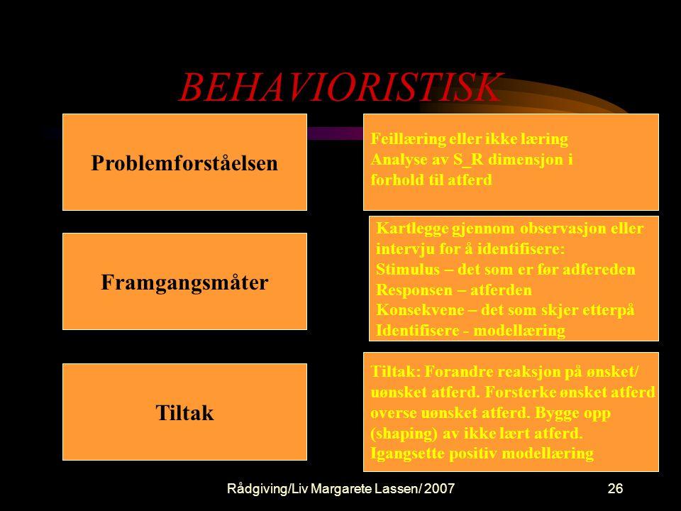 Beteende terapeutiske paradigm och modeller (Sten Rønneberg)