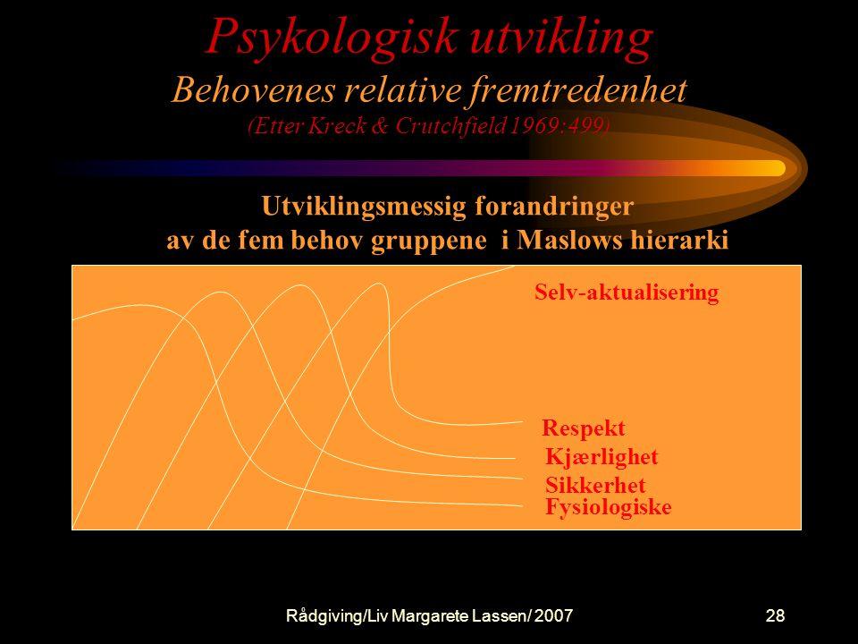 HUMANISME - Den tredje vei Rogers - Maslow - Glasser - Nissen