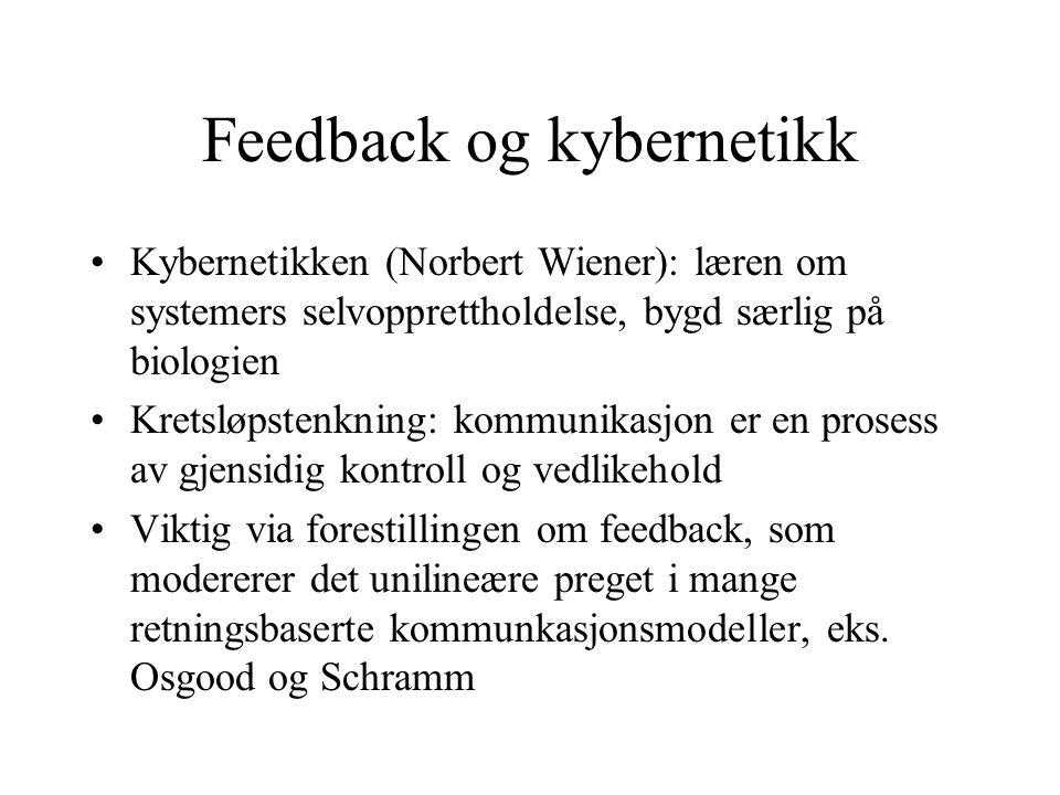 Feedback og kybernetikk