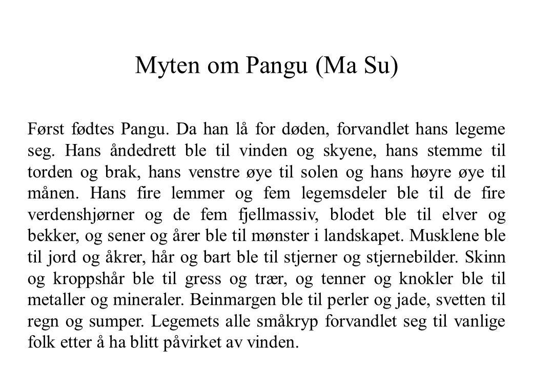 Myten om Pangu (Ma Su)