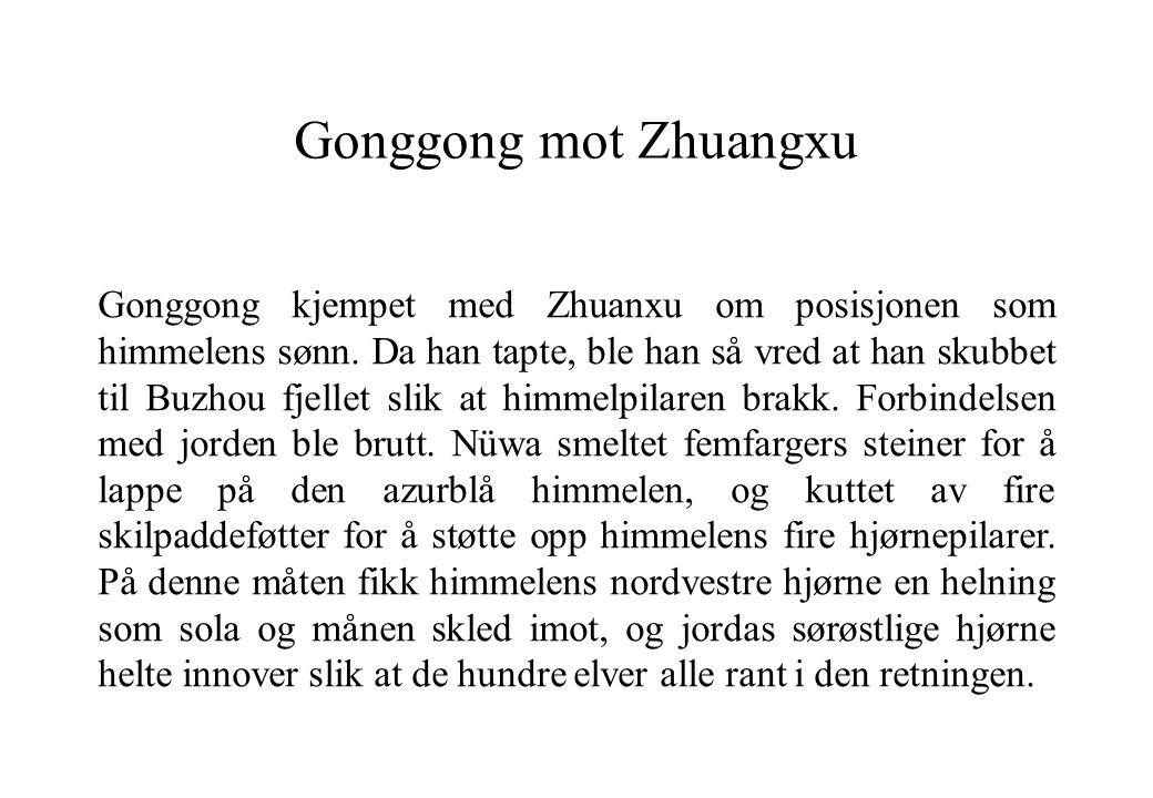 Gonggong mot Zhuangxu