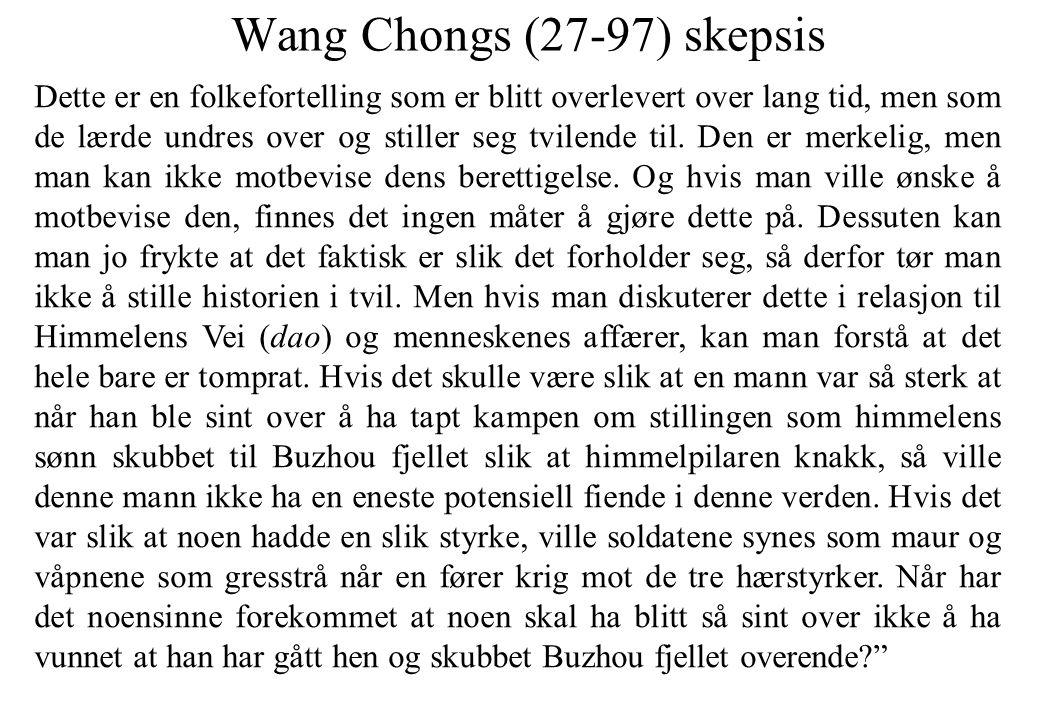 Wang Chongs (27-97) skepsis