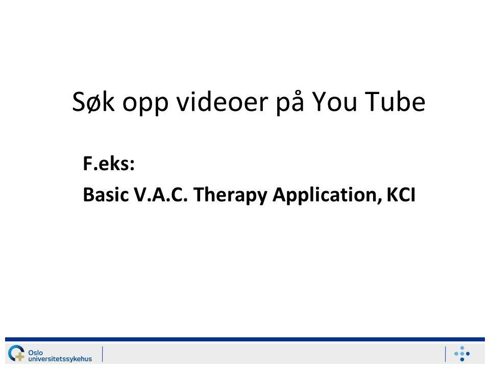 Søk opp videoer på You Tube