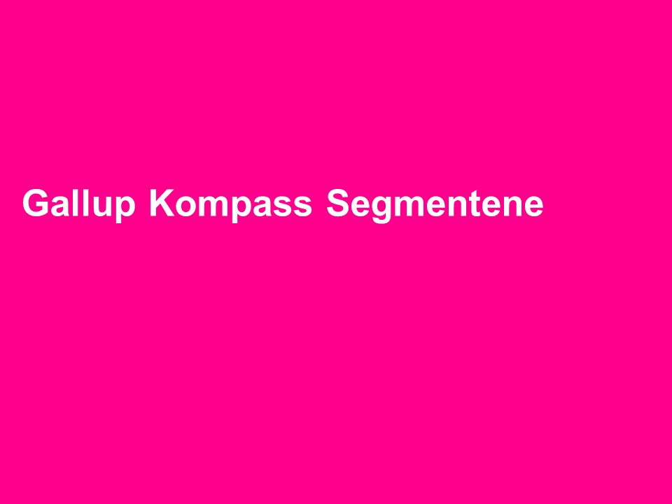 Gallup Kompass Segmentene