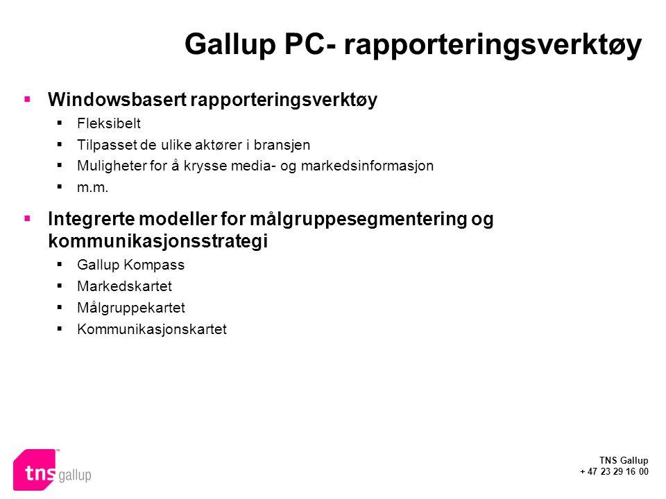 Gallup PC- rapporteringsverktøy