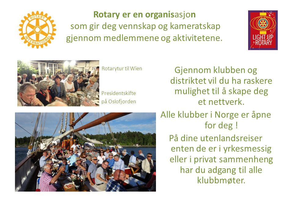 Alle klubber i Norge er åpne for deg !