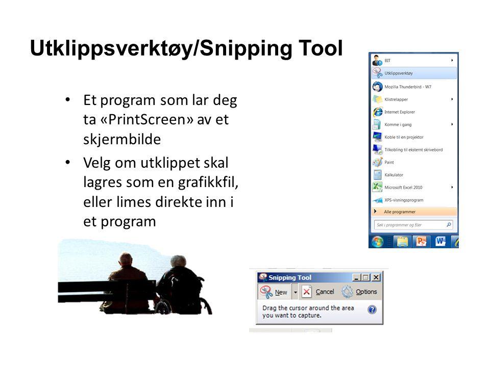 Utklippsverktøy/Snipping Tool