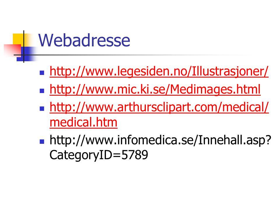 Webadresse http://www.legesiden.no/Illustrasjoner/