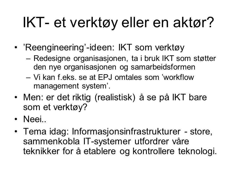 IKT- et verktøy eller en aktør