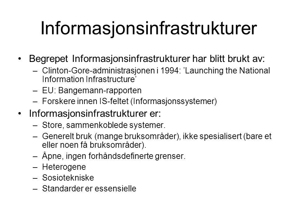 Informasjonsinfrastrukturer