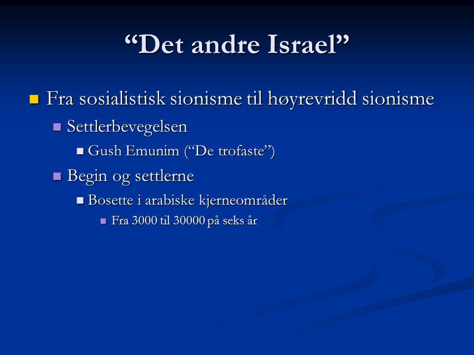 Det andre Israel Fra sosialistisk sionisme til høyrevridd sionisme