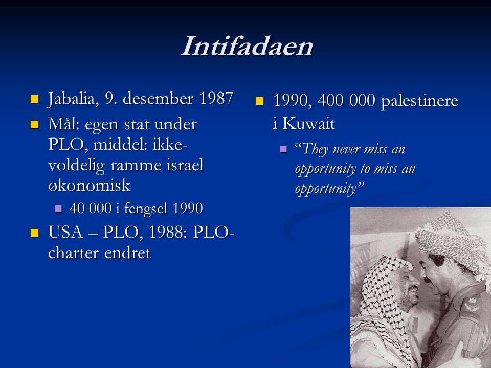 Intifadaen Jabalia, 9. desember 1987