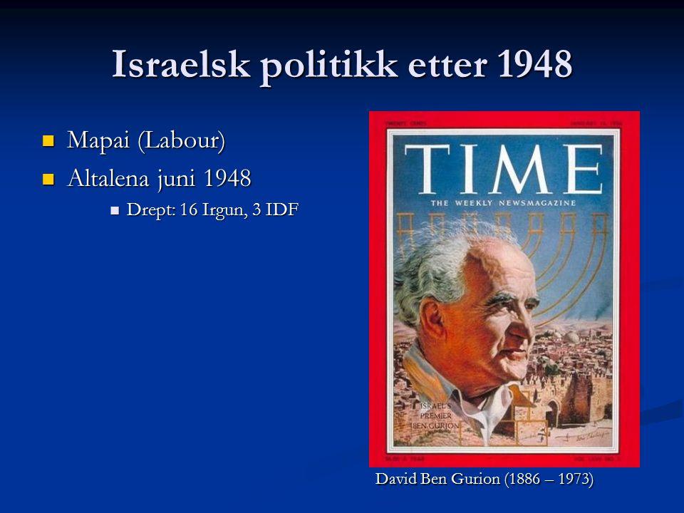Israelsk politikk etter 1948