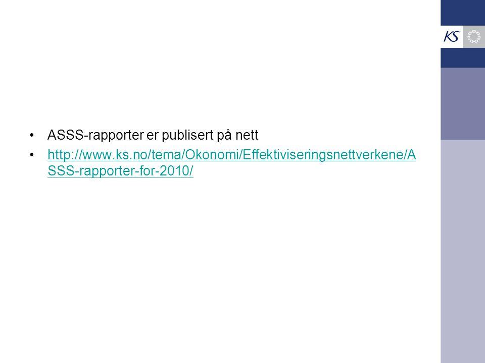 ASSS-rapporter er publisert på nett