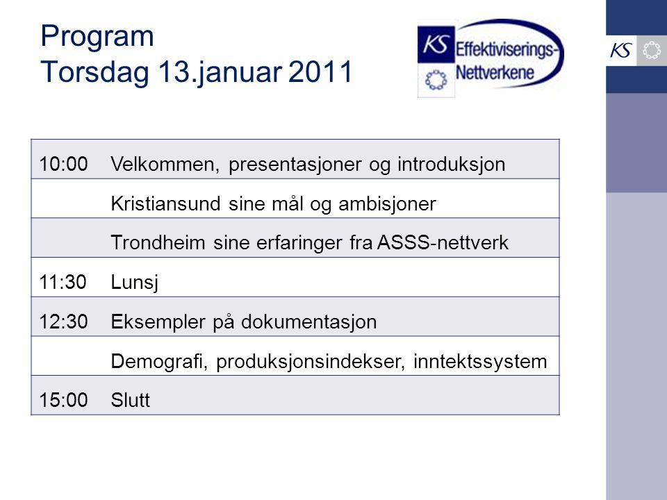 Program Torsdag 13.januar 2011