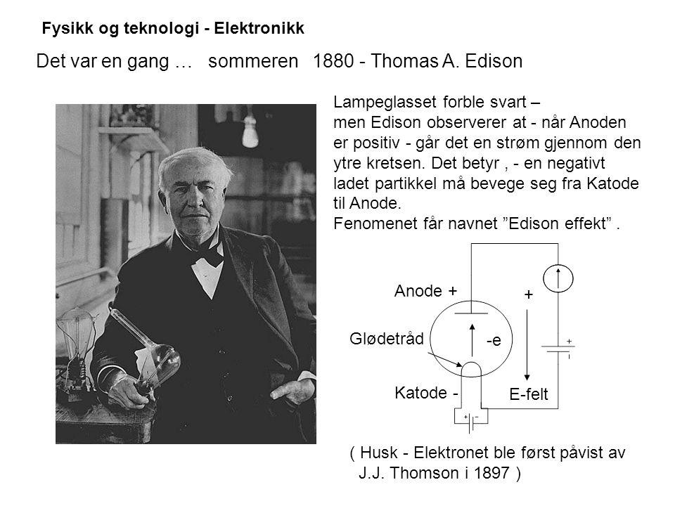 Det var en gang … sommeren 1880 - Thomas A. Edison