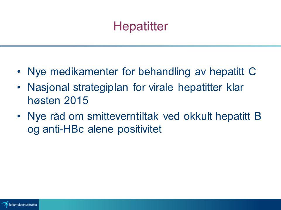 Hepatitter Nye medikamenter for behandling av hepatitt C