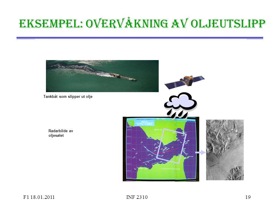 Deteksjon av oljesøl fra radarbilder