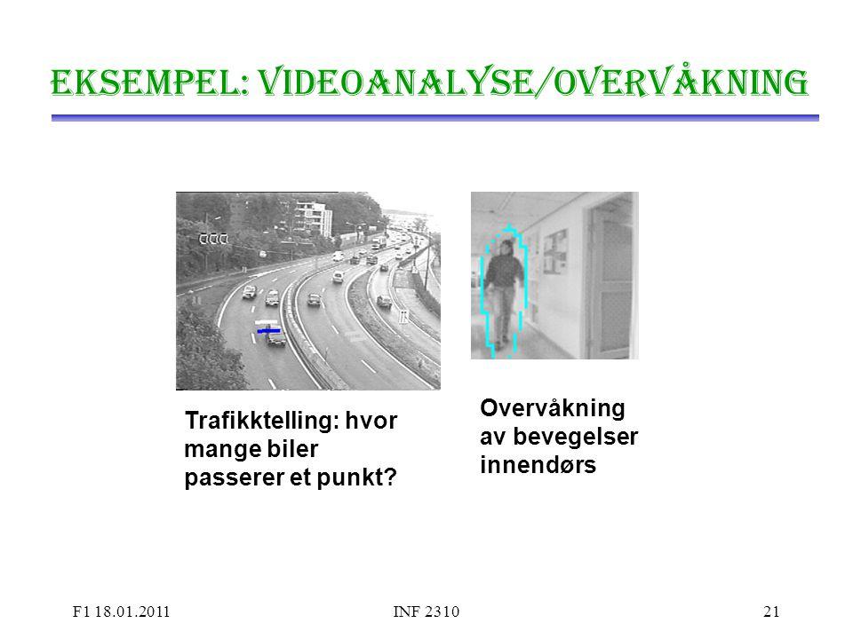 Eksempel: Videoanalyse/overvåkning