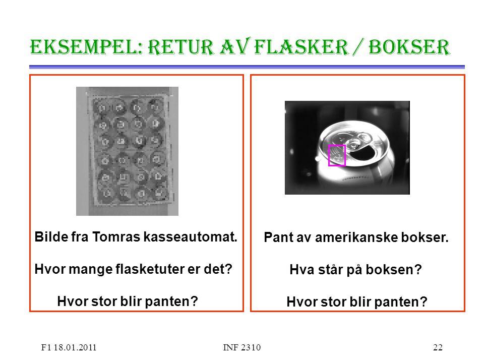 Eksempel: Retur av flasker / bokser