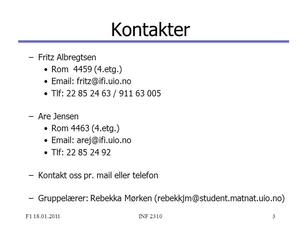Kontakter Fritz Albregtsen Rom 4459 (4.etg.)