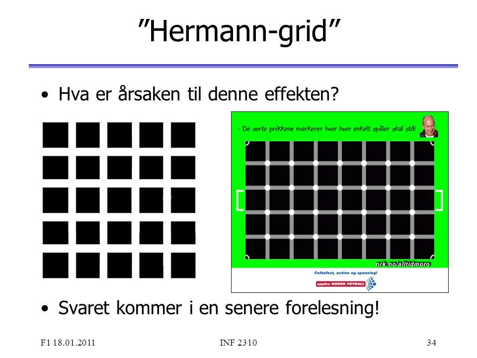 Hermann-grid Hva er årsaken til denne effekten
