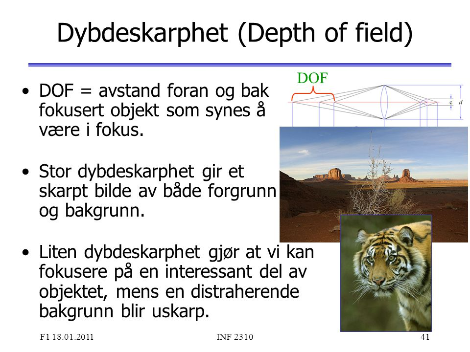 Dybdeskarphet (Depth of field)