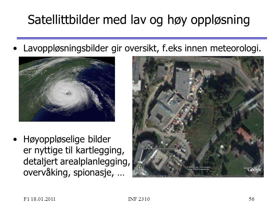 Satellittbilder med lav og høy oppløsning