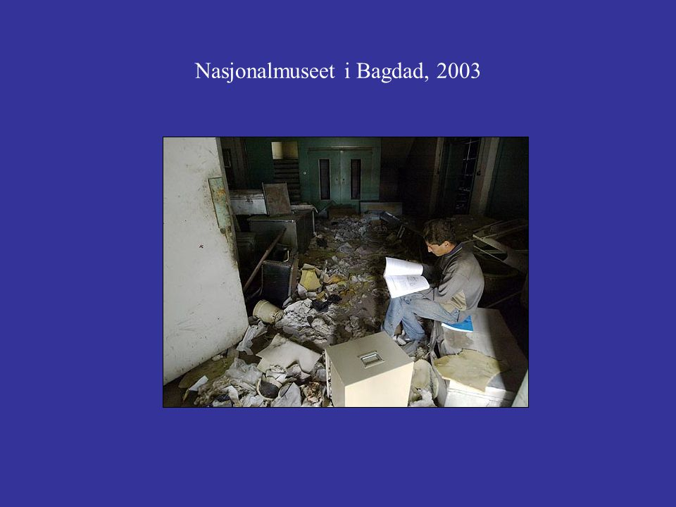 Nasjonalmuseet i Bagdad, 2003