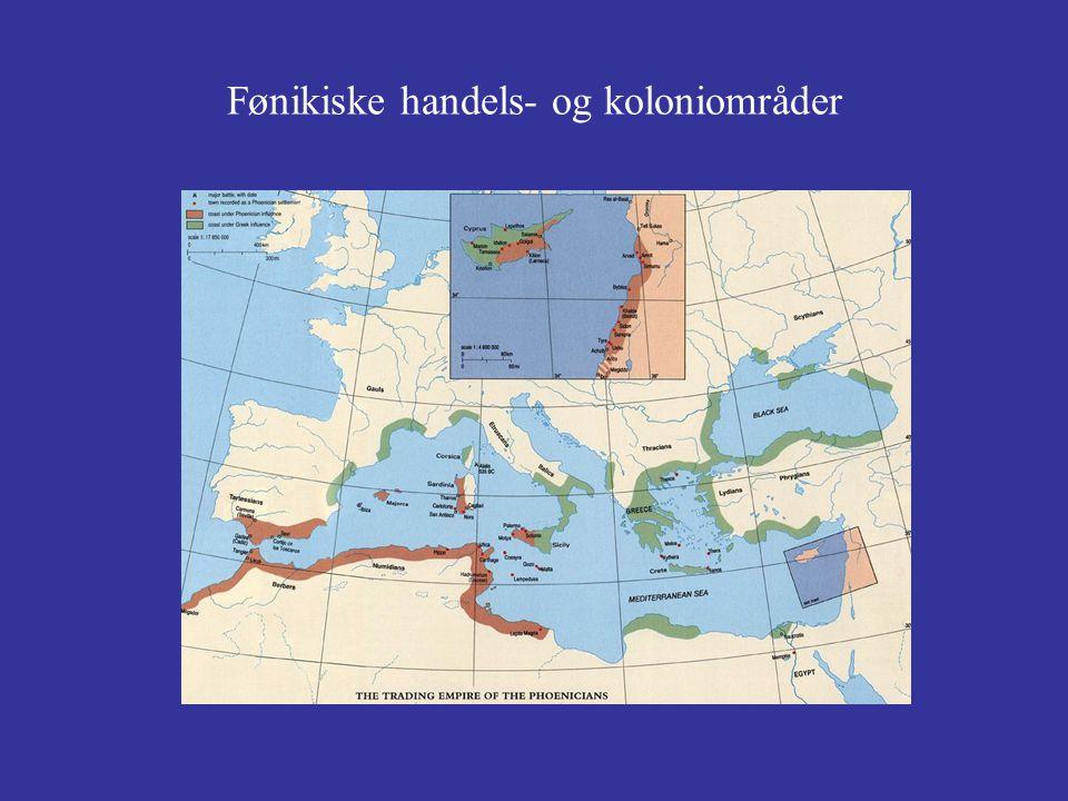 Fønikiske handels- og koloniområder