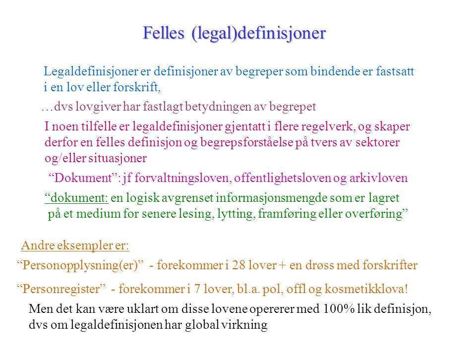 Felles (legal)definisjoner
