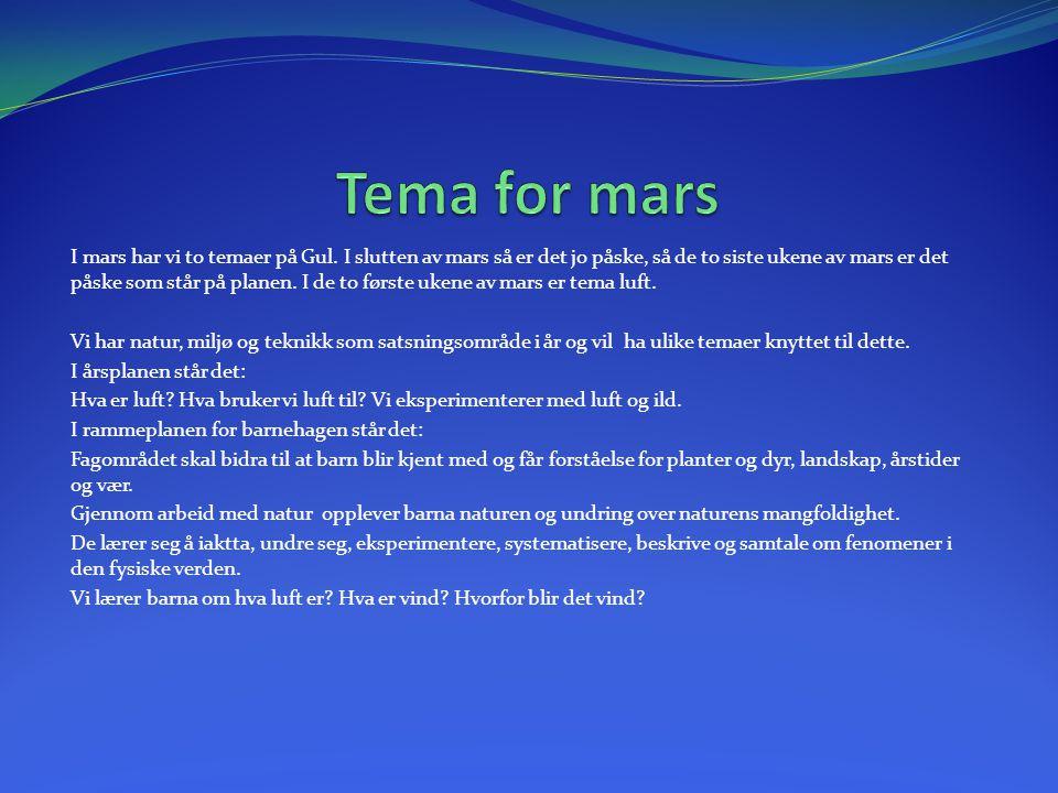 Tema for mars