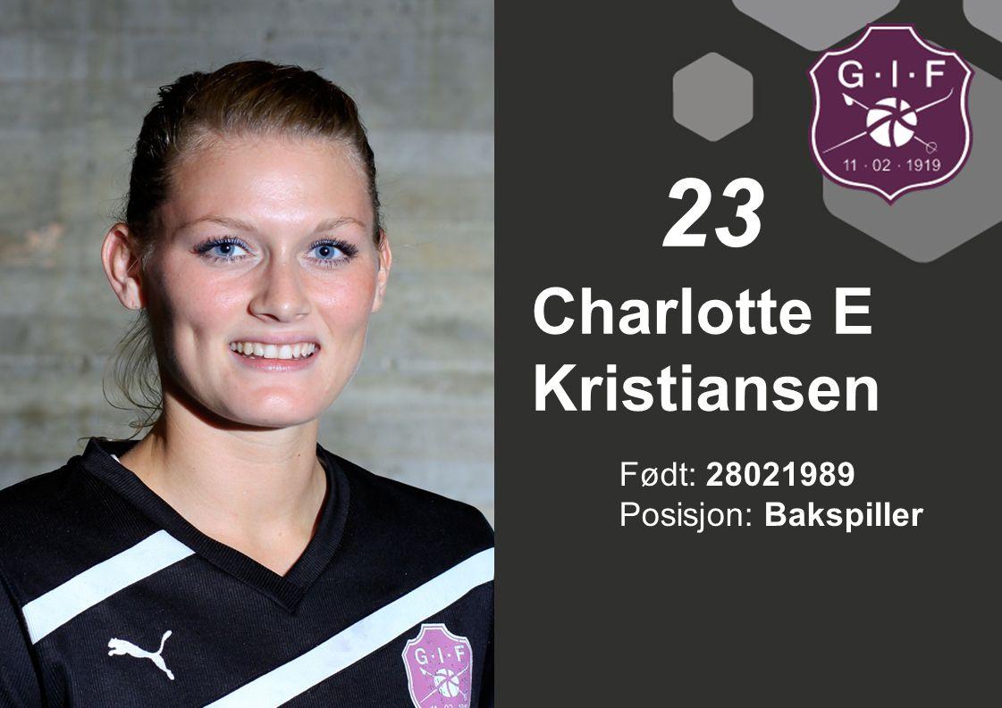 Charlotte E Kristiansen