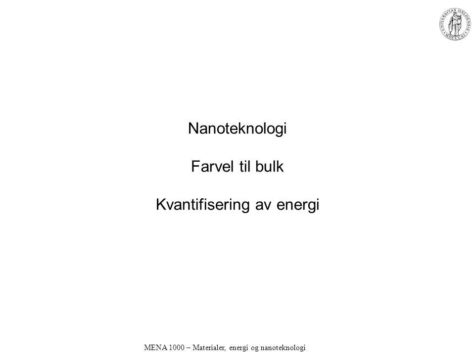 Nanoteknologi Farvel til bulk Kvantifisering av energi