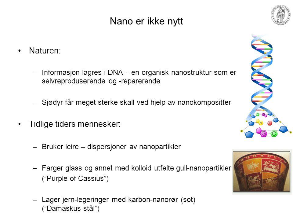 Nano er ikke nytt Naturen: Tidlige tiders mennesker: