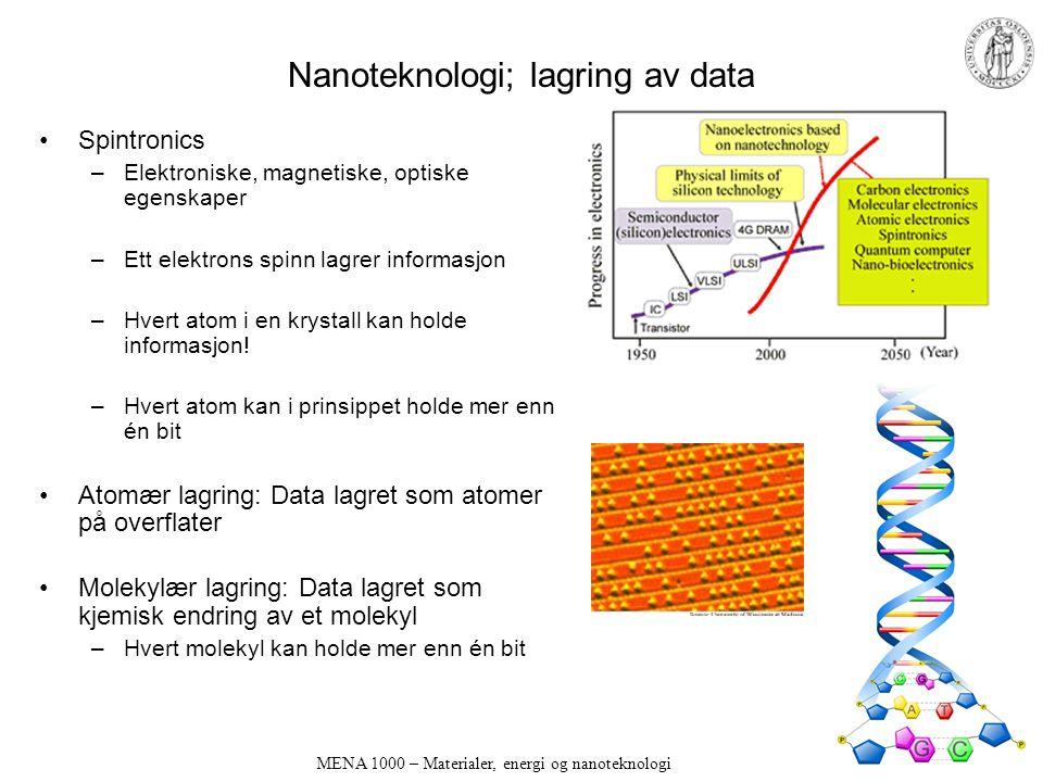 Nanoteknologi; lagring av data