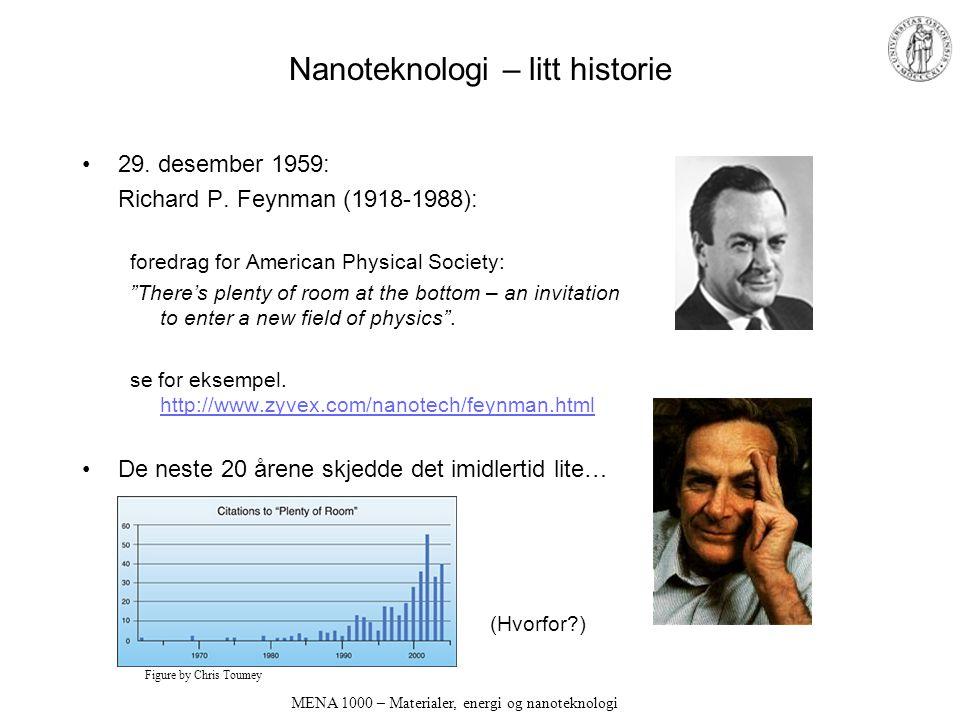 Nanoteknologi – litt historie