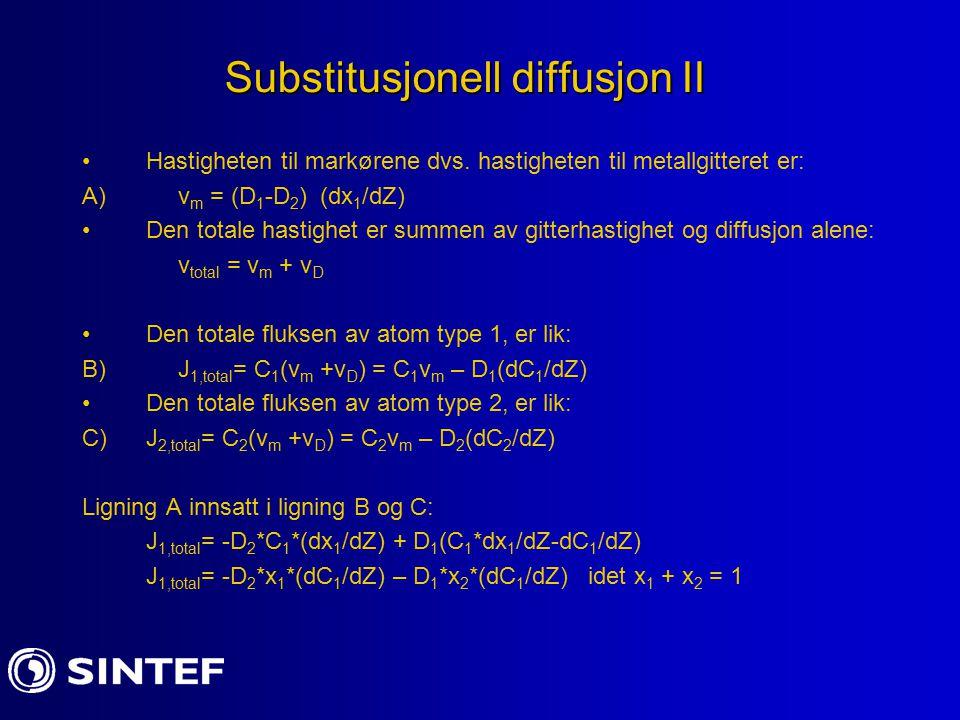Substitusjonell diffusjon II