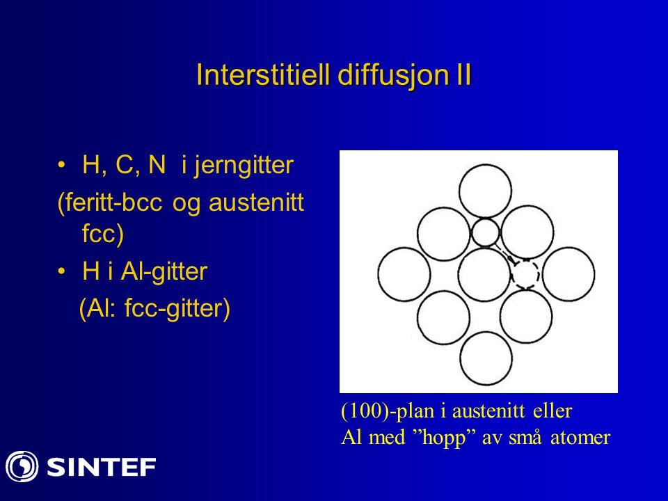 Interstitiell diffusjon II
