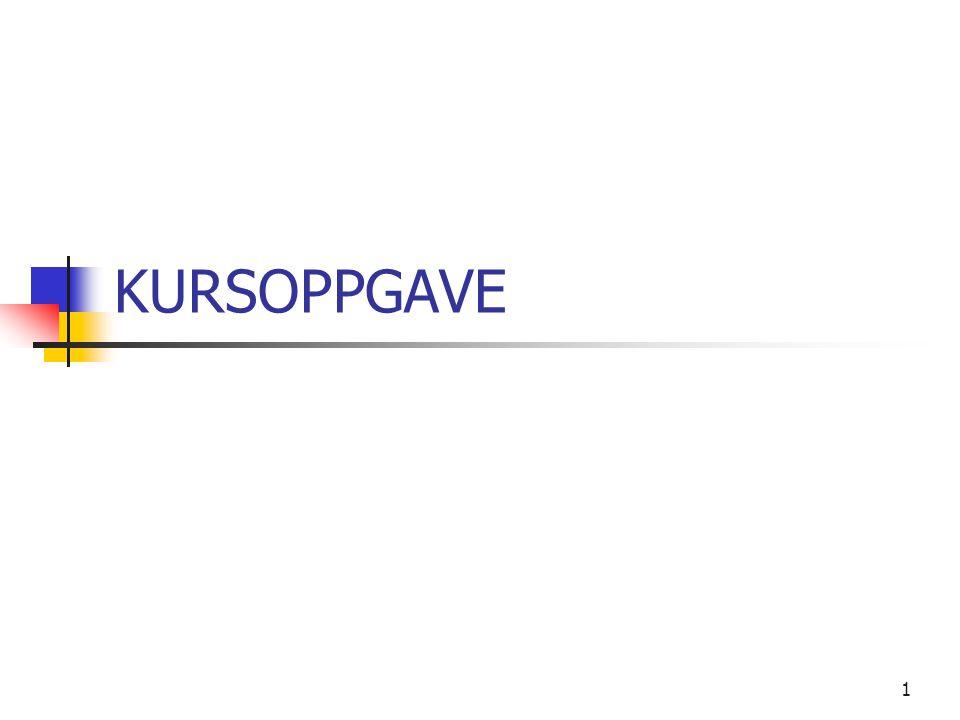 KURSOPPGAVE